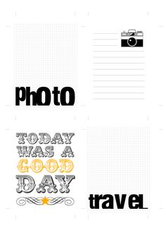 Free camera.photo.travel.good day journal cards
