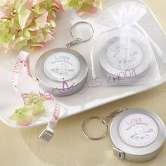 "#BabyShowerFavors ""Measure Up Some Love"" Heart Tape Measure Baby Shower Favor"