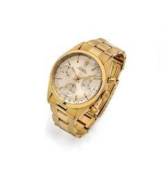 ROLEX  <br /> Pre-Daytona, ref. 6238, n° 1206473, vers 1965 <br /> Rare et beau chronographe bracelet en or jaune 14K (585) pour le marché américain. Boîtier rond avec fond et couronne vissés, poussoirs lisses. Cadran argenté avec trois compteurs pour l'indication des heures, des minutes et des secondes, index
