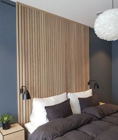 20 modern accent wall bedroom ideas for any room in your house 05 Related Bedroom Lamps Design, White Bedroom Design, Bedroom Decor, Bedroom Ideas, Small Room Bedroom, Bedroom Colors, Style At Home, Accent Wall Bedroom, Minimalist Bedroom