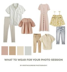 Family Photography Outfits, Family Portrait Outfits, Fall Family Photo Outfits, Clothing Photography, Summer Picture Outfits, Spring Family Pictures, Beach Family Photos, Family Pics, Family Photos What To Wear