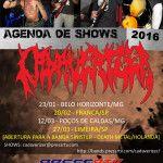Cadaverizer: anunciando abertura para a banda holandesa Sinister e agenda de 2016