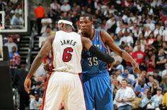 #Lebron James & Kevin #Durant #KingJames #Thunder #OKC #Heat