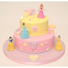 Disney Princess Cake this would make a great graduation cake idea for a few best friends I know