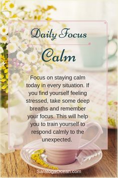 Having a daily focus is very simple and easy to do. It's a great way to incrementally introduce positive thoughts and new habits into your mind. Imagine how much your life would transform if you did this every day! Positive Affirmations Quotes, Affirmations For Women, Morning Affirmations, Affirmation Quotes, Wisdom Quotes, Positive Quotes For Life Motivation, Daily Motivation, Feeling Stressed, How Are You Feeling