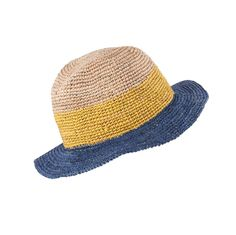 THREE-COLOUR RAFFIA HAT - BIMBA Y LOLA