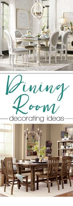 Dining room decorating inspiration {farmhouse style}
