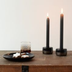 The Duo Candle Holder can hold tea lights as well as dinner candles - just turn it over to reveal a larger hole.