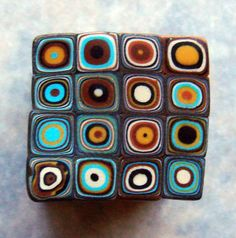 Handmade Polymer clay Klimt/ Retro Cane - looks like I will be taking out the clay extruder!