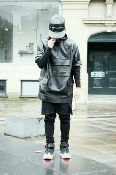 Street fashion - BLACK