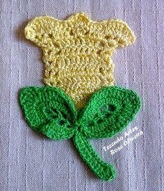 Tecendo+Artes+em+Crochet:+Tulipinha+Amarela...diagram only!