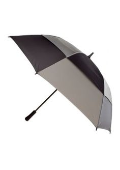 This oversized umbrella helps to keep you and a friend dry or shaded, depending on the weather. The lightweight carbon fiber shaft is spring-loaded for automatic one-handed opening.