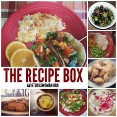 The Recipe Box @ AVirtuousWoman.org ------ HUNDREDS of healthy {and some not so healthy} recipes for busy moms!