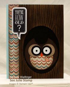 Just Sayin' Owl Birthday Card