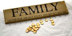 Family Birthday Board Distressed Wood Free by SparrowsEdgeDesigns, $50.00