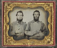 RUBY AMBROTYPE OF 2ND VA INFANTRY CONFEDERATES