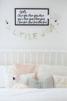 So excited to finally share all the details of the girls' shared room. Jules was outgrowing her toddler bed so we decided it was time to up...