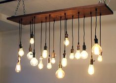 chandelier made of light bulbs | Urban Chandy's Cool Recycled Chandeliers to Light up BKLYN Designs ...