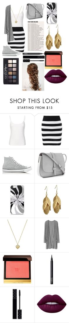 """""""Day 4: say something (not by Austin mahone)"""" by peanut03411 ❤ liked on Polyvore featuring Converse, Gap, Michael Kors, Tom Ford, NARS Cosmetics, Gucci, Maybelline and Lime Crime"""