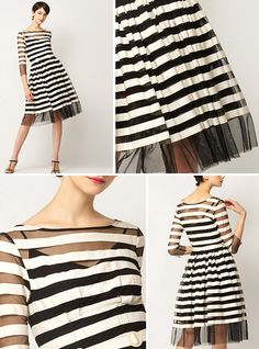 Striped Retro Dress