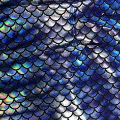 Blue Hazy Mermaid Scales \ Wholesale Spandex fabric - Pine Crest Fabrics