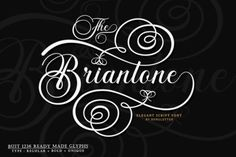 Briantone is a flowing handwritten font, described by an elegant touch, perfect for your favorite projects. Fall in love with... Handwritten Fonts, Script Fonts, All Fonts, Character Map, Character Changes, Wedding Script, Fancy Letters, Beautiful Fonts, Menu Restaurant