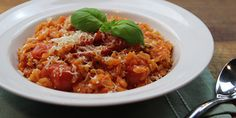 Seasonal Tomato Risotto - Napolina Recipe.