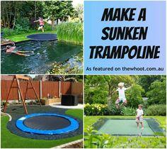 Sunken trampoline?!?!? Is this safer?