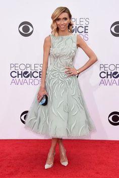 Giuliana Rancic at the 2015 People's Choice Awards in Tony Ward