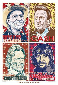 Highwaymen Pop Art Print 13x19 by RedRobotCreative on Etsy, $25.00