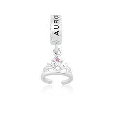 Pingente Prata Coroa Princesa Aurora - Princesas Life Moments   R$190,00