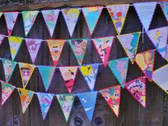 Vintage Disney ALICE IN WONDERLAND Party Pennant Banner Bunting Garland -- Limited Edition. $22.00, via Etsy.