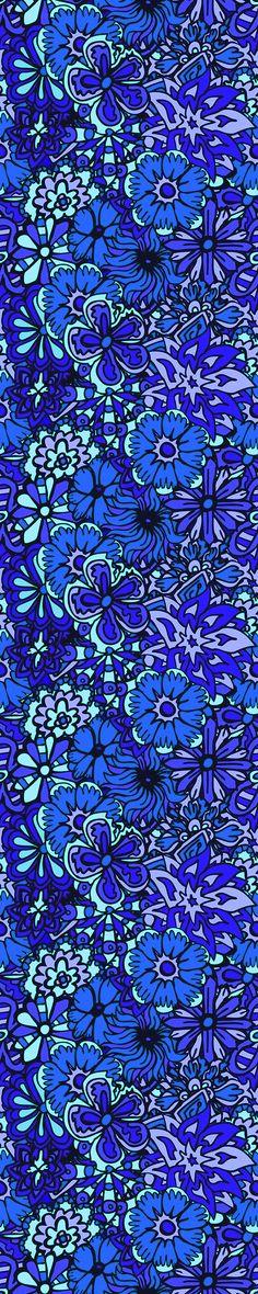 Blue FLower Doodle