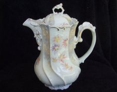Antique Chocolate Pot Large Coffee Tea by TheVintageTeacup on Etsy