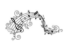 Vinyl Wall Decal Curly Musical Notes Art Design Sticker:Amazon:Home & Kitchen