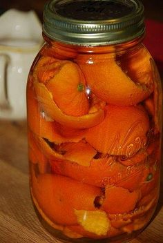 Quick Orange Peel Vinegar Cleaner « Criterion Living Orange peels, vinegar in a quart jar, let sit for 10 days or so…strain out the liquid and use as an all-purpose cleaner. Easy, cheap, natural, smells good