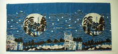 Apparently, the 1835 Moon Hoax of Richard Adams Locke, serialized in the New York Sun , was so popular that it was commemorated in wallpaper . The wallpaper, according to Peter M. Millman , is deep blue, silver, and black. A specimen 14 inches high by 30 inches wide is preserved in the museum of the Nantucket Historical Association.