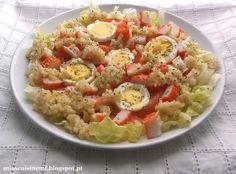 Mia's Cuisine: Salada de Quinoa, Ovo e Delícias do Mar