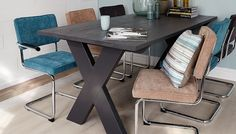 Simple X dining Table Diy Table, Dining Table, Woodworking Projects Diy, Home Organization, Office Desk, Diy Furniture, Corner Desk, Diy And Crafts, Sweet Home
