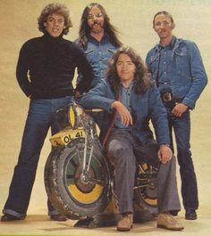 Rory Gallagher and his band. Left to right Gerry McAvoy (bass), Lou Martin (keyboards), Rory Gallagher (guitar and vocals) and Rod de'Ath (drummer) Drunk Woman, Rory Gallagher, Odd Fellows, Him Band, Classic Rock, The Magicians, Album Covers, Uk Music, Guitar Players