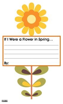 If I Were a Flower in Spring...Writing Prompt