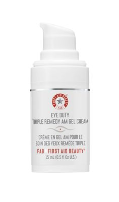 First Aid Beauty Eye Duty Triple Remedy AM Gel Cream is a fast-absorbing eye treatment that hydrates, helps skin appear firmer and helps diminish the appearance of fine lines and wrinkles in the entire orbital eye area. Dry Eyes Causes, Eyes Problems, First Aid Beauty, Inevitable, Anti Aging Cream, How To Apply Makeup, Skin Makeup, Makeup Brushes, Dark Circles