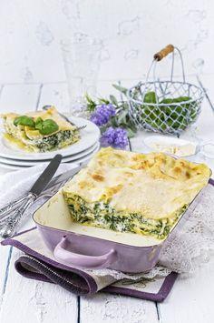 Lasagnes maison haddock, épinards et mozzarella