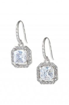 """Stella & Dot Deco Drop Earrings $44  PERFECT BRIDE/BRIDESMAID EARRINGS!  Deco faceted CZ and Czech crystals adorn delicate vintage inspired drops.  1/2"""" drop length.  Sterling silver fish hook earwire.  Lead & nickel safe."""