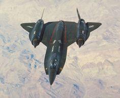 A Lockheed YF-12 experimental interceptor.