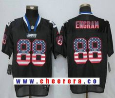 Men's New York Giants #88 Evan Engram Anthracite Black USA Flag Fashion Stitched NFL Nike Elite Jersey