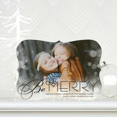 Be Merry with this holiday photo card with Sarah Hawkins Designs for Tiny Prints. #Christmas