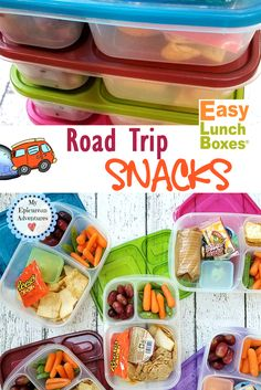 Skip the fast food stops and pack your own road trip snacks instead! It's easy with @easylunchboxes