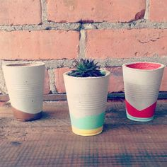 Handmade concrete planters -The General Store