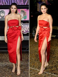 Selena Gomez looked red hot on the red carpet in stunning separates as she promoted Transylvania 2 putting her fantastic figure on display in a head-turning outfit — we can't get enough of this look! Can you?